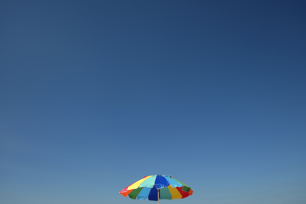 Beach Umbrella and Blue Sky